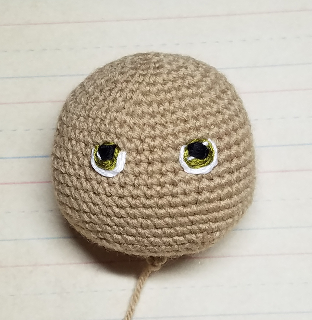 easy amigurumi eye embroidery