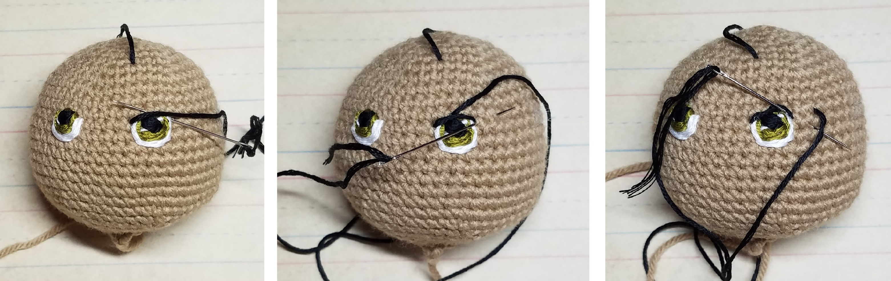 Amigurumi Eye placement | Crochet eyes, Crochet techniques ... | 985x3122