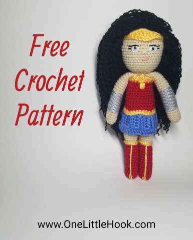 wonder woman amigurumi free pattern