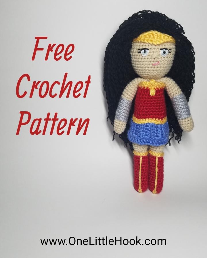 wonder woman amigurumi free pattern