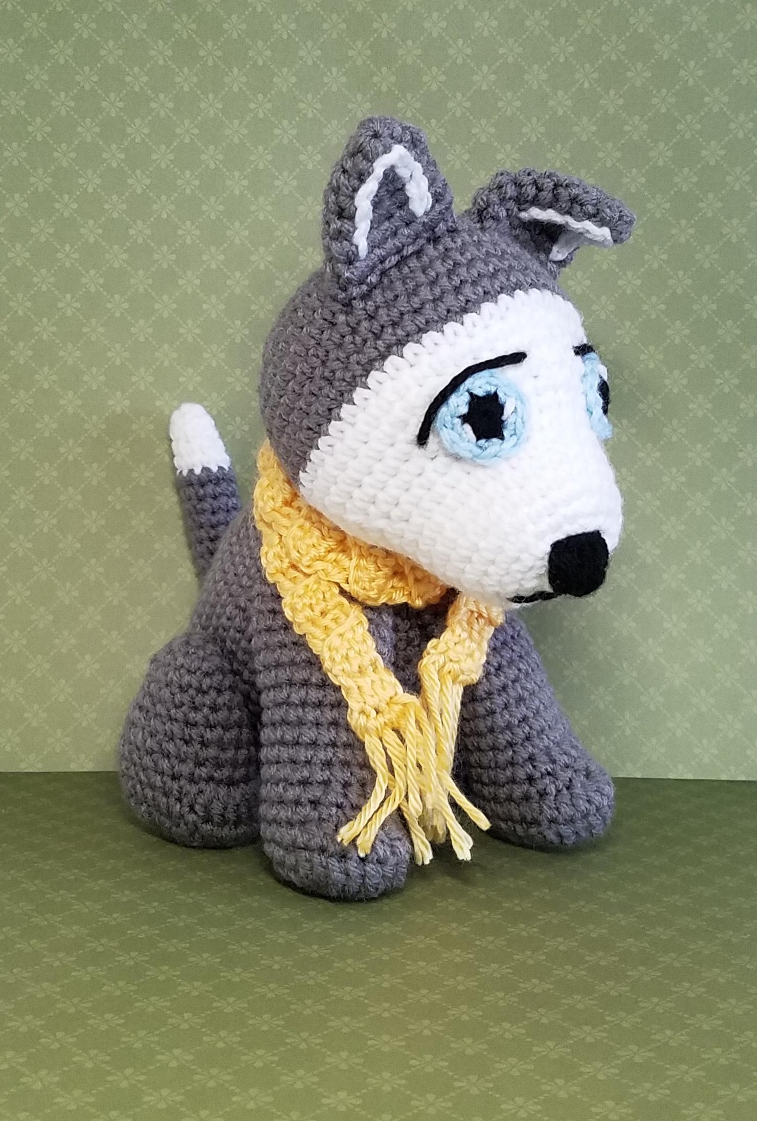 husky amigurumi crochet pattern