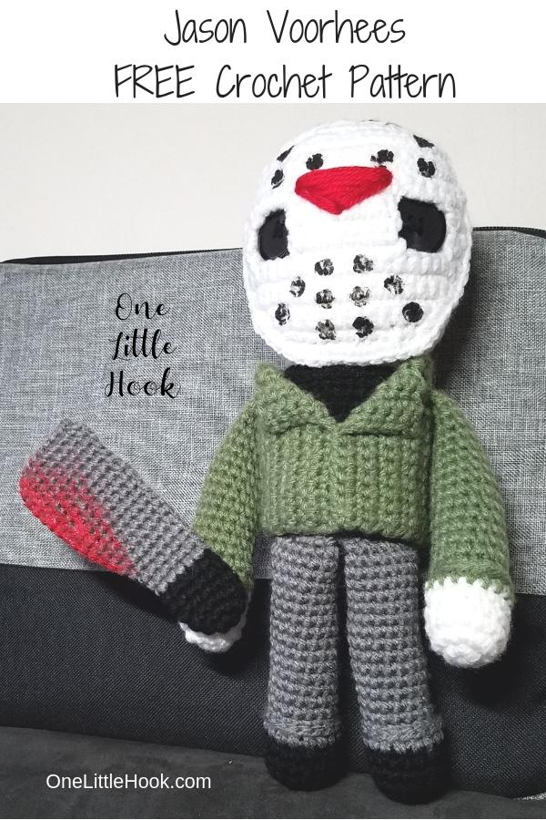 Jason Voorhees Inspired Crochet Doll Onelittlehook
